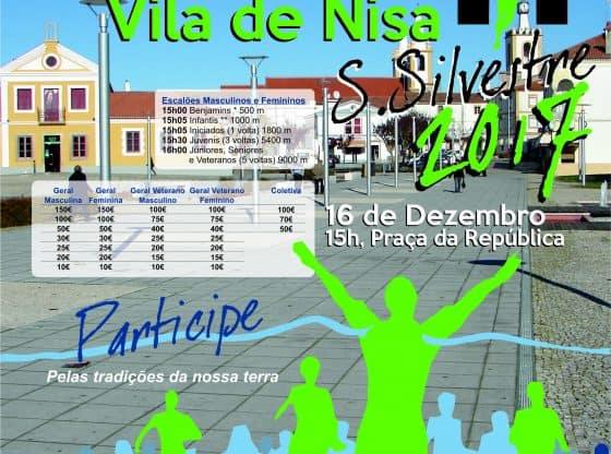 Cartaz Corrida S.Silvestre de Nisa 2017